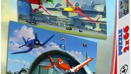 Kreativní puzzle Letadla 2x66