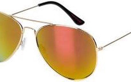 Review - Brýle AVIATOR STRAIGHT - zlatý, ONE - 200 Kč na první nákup za odběr newsletteru