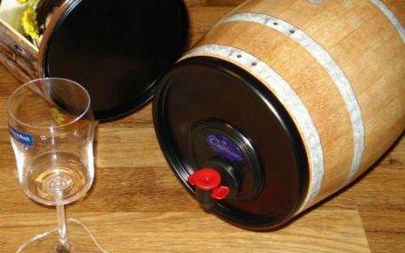 Dárkový soudek s 5 litry červeného nebo bílého vína