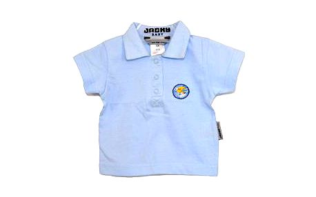 Kvalitní dětské modré polo tričko