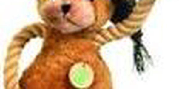 Hračka pes Medvídek plyš 45cm pískací