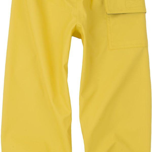 Dětské kalhoty do deště - žluté