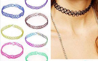 Retro elastický náhrdelník!