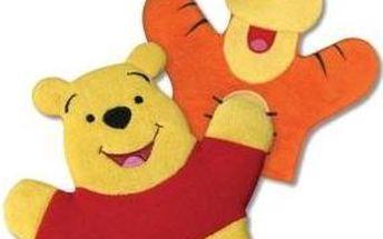 Medvídek Pů Žinky na mytí, s oblíbenou postavou, 100 % polyester