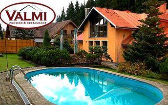 Letní víkend na Šumavě v Penzionu Valmi pro 2 osoby včetně polopenze, bazénu a tenisu