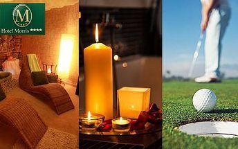 Romantický wellness nebo golfový pobyt ve 4* Parkhotelu Morris