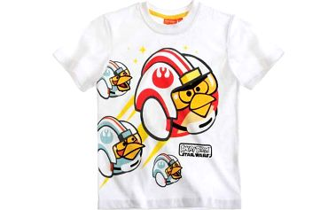 Chlapecké tričko Angry Birds - bílé