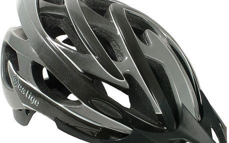 pánská cyklo helma Piranha, šedá