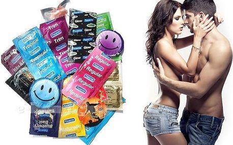 Balíček až 65 ks kondomů Durex nebo Pasante s dárkem