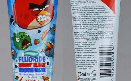 ANGRY BIRDS Zubní pasta s oblíbeným motivem