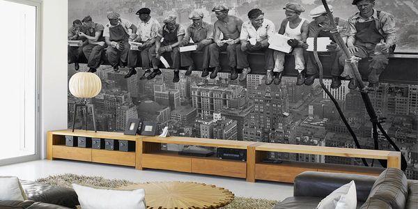 Tapeta Dělníci na traverze 315x232 cm