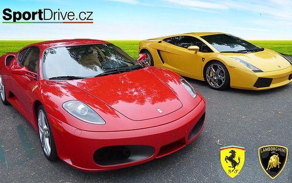 Jízda snů v supersportu Ferrari F430, Lamborghini Gallardo, nebo Nissan GT-R, až 2 lokality na výběr