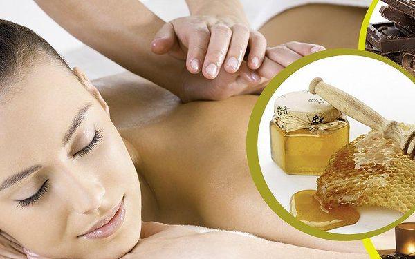 Masáž dle vašeho výběru v Praze - medová, čokoládová, relaxační nebo aroma masáž na 45 nebo 50 minut