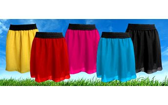 Dámská Šifonová sukně na míru v 5 barvách