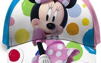 Dívčí kšiltovka s Minnie - barevná kolečka