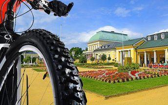 5denní cyklistický wellness pobyt pro 2 ve Františkových Lázních