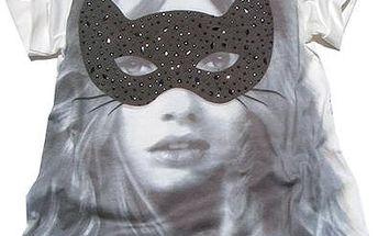 Dívčí tričko s obrázkem, bílé