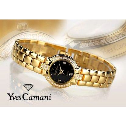 Luxusní dárek pro dámu: Pozlacené hodinky Yves Camani se Swarovskými krystaly