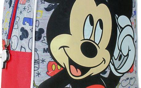 Dětský batůžek Mickey Mouse - šedo-červený