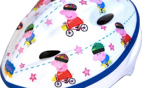 Dívčí helma Peppa Pig s veselými obrázky