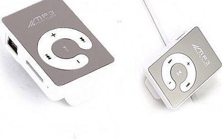MP3 přehrávač ve sportovním provedení se zrcadlovou plochou vhodný pro běžný poslech i při sportu!