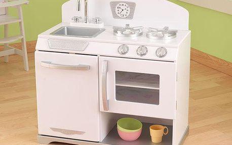 Bílý retro sporák pro malé kuchařky