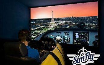 30 nebo 60 minut v leteckém simulátoru v jednom ze 22 modelů