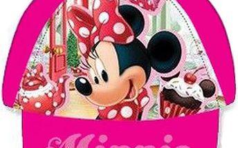 Dívčí tmavě růžová kšiltovka Minnie