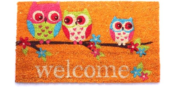 Rohožka Welcome Owls, 40x70 cm