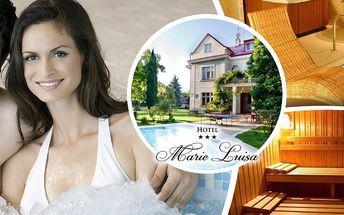 Privátní sauna a vířivka v hotelu Marie-Luisa na 2 hodiny. Užijte si dokonalou relaxaci ve dvou.