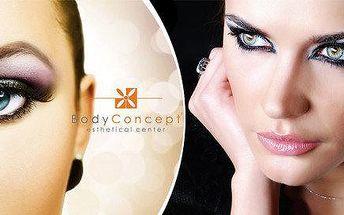 Permanentní make-up obočí, horní a dolní linka víček a rtů s konzultací