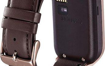 Samsung ET-SR380L kožený výměnný pásek pro R380 Gear 2 a R381 Gear 2 Neo hnědý
