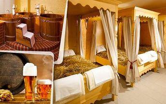 Privátní wellness a pivní koupel pro 2 v Olomouci