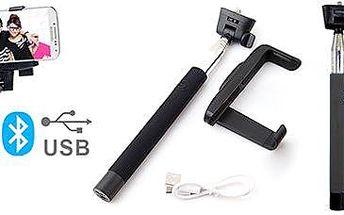 Teleskopická bluetooth selfie tyč: Skvělé fotky kdykoli a kdekoli!