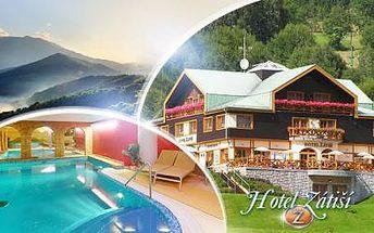 Špindlerův Mlýn, KRKONOŠE! Relaxační pobyt pro DVA na 3 až 8 dní s POLOPENZÍ a WELLNESS v Hotelu Zátiší***!