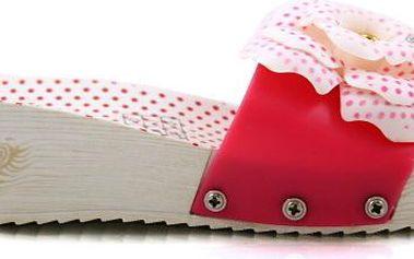 Pantofle na klínku HS-9902M