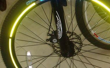 Reflexní nalepovací pásky na kola - žlutá