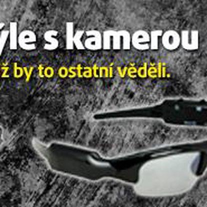 Špionážní brýle s kamerou; foto+video včetně zvuku