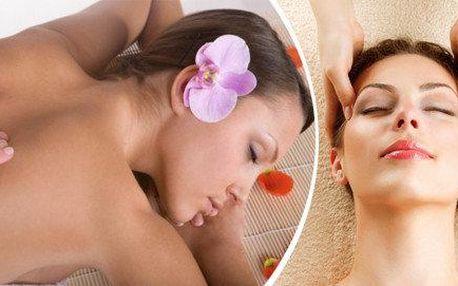 Relaxační tělová masáž + antistresová masáž hlavy