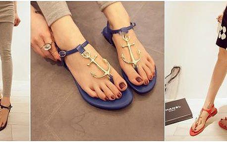 Dámské námořnické sandálky s kotvou!
