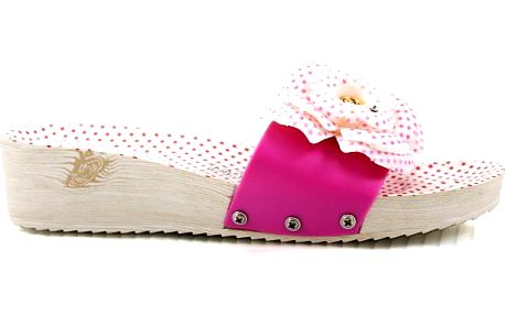 Pantofle na klínku HS-9902F