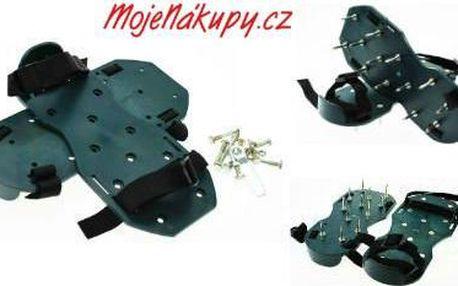 Sandály pro kultivování trávníku s ocelovými hroty