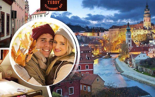 Pobyt září-prosinec v Českém Krumlově pro dva v rodinném pensionu Teddy s vynikající snídaní.