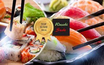 24 ks SUSHI nebo MENU pro 2 osoby ve skvělém Wasabi Sushi ve Vršovicích nebo na Smíchově!