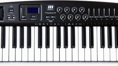 USB / MIDI klaviatura, master keyboard, 37 kláves Miditech i2 Control-37 BK