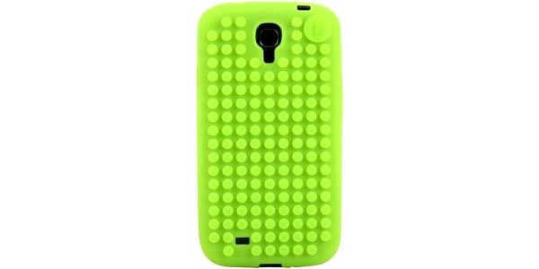 Pixelový obal na Samsung S4, jablkově zelená