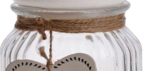 Skleněná dóza Bird Love 750 ml