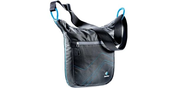 DEUTER Pannier City black-turquoise taška přes rameno