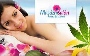 120minutová orientální konopná masáž pro 1 osobu: Skvělá úleva a regenerace.