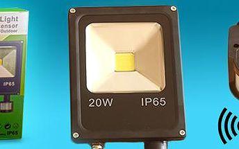 20W LED světlo se senzorem pohybu: ideální pro osvětlení tmavých oblastí.
